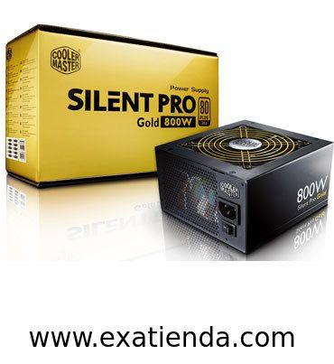 Ya disponible Fuente 800w fsp pfc activo silent pro gold   (por sólo 170.99 € IVA incluído):   -Tipo:  ATX12V/ V2.3 -Potencia: 800W -Pontencia maxima: 960W -Fans: 120 mm Ultra Silent Fan -PFC: Activo -Conector principal: 20 +4 pines +12 V Rails: 4 -Conectores: 1 x M/B 20 + 4 pins 1 x CPU 4 + 4 pins PCI-e 6+2 pins x 3 / PCI-e 6 pins x 3 (One PCI-e 6+2 pins connector extends to one PCI-e 6 pins connector) 4 x SATA x 9 / Peripheral 4 pins 1 x Floppy 4 pins -SLI: SI -CrossFir