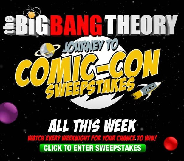 The Big Bang Theory Journey to Comic-Con Sweepstakes Codes