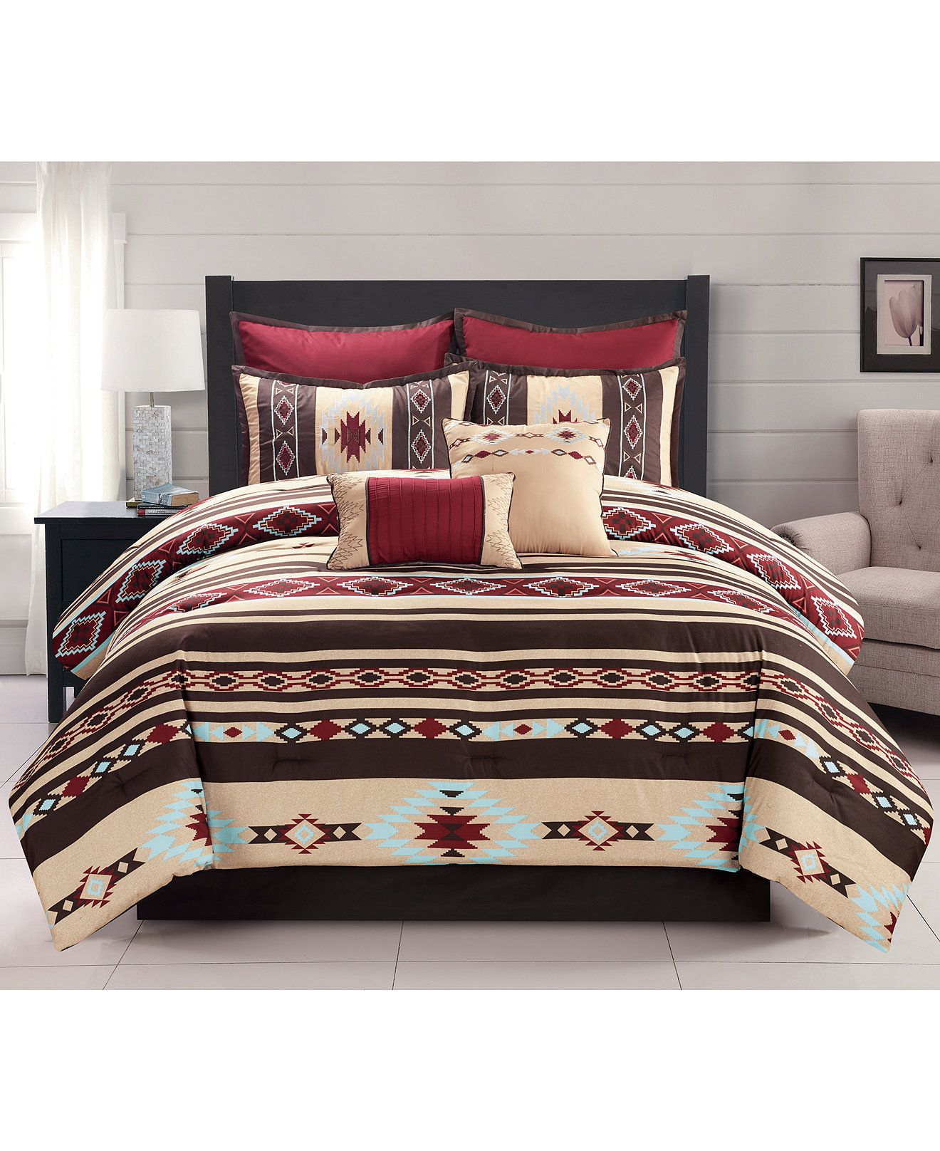 Buckeye 8Pc. Comforter Sets Bed in a Bag Bed & Bath