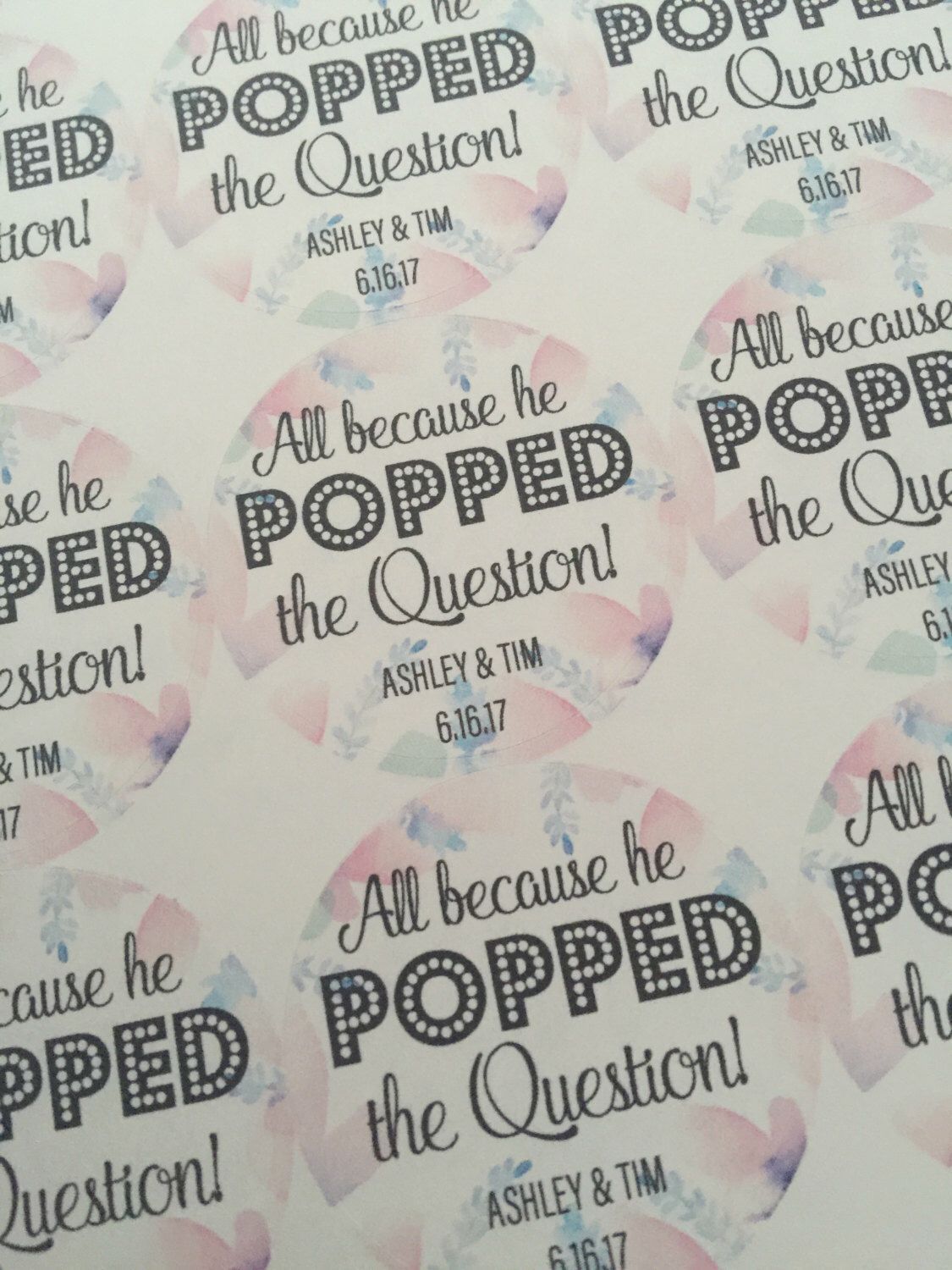 He Popped the Question, Popcorn Favors, Wedding Favors, Custom ...
