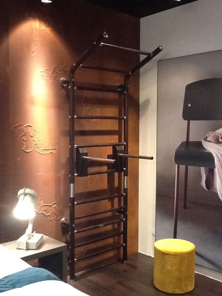 Design Wall Bar Luxus Home Gym Maxwall Aus Holz Und Edelstahl Im Auping  Plaza Stilwerk Berlin