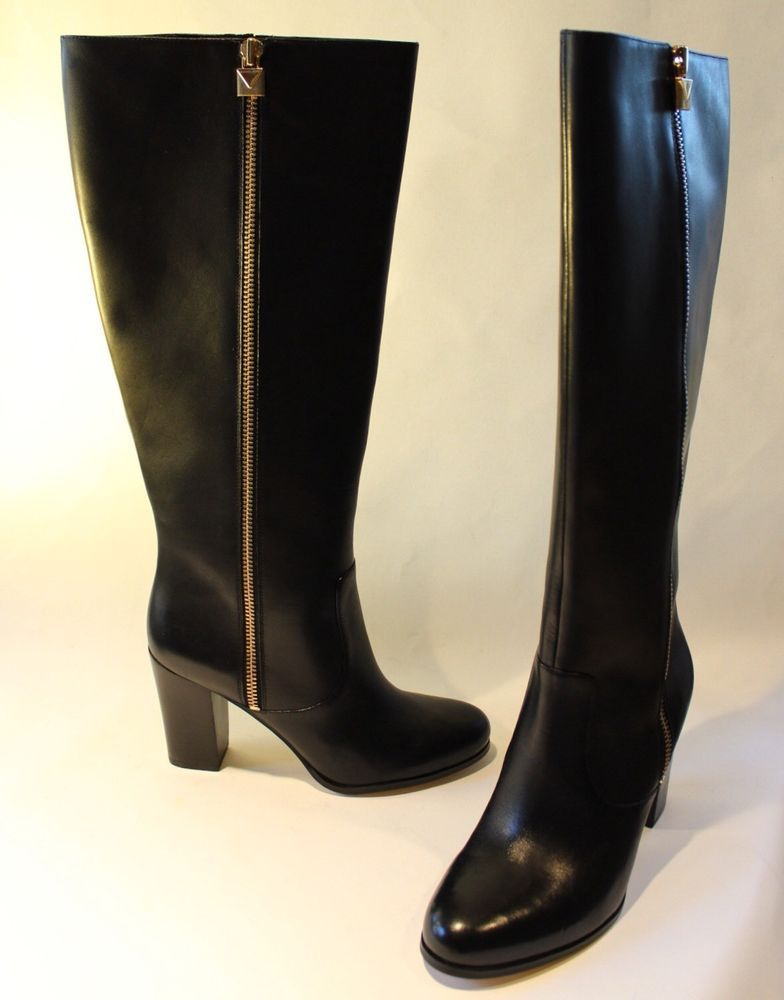 promo codes pretty cool entire collection Michael Kors Womens Boots Black Leather Margaret Wide Calf style ...