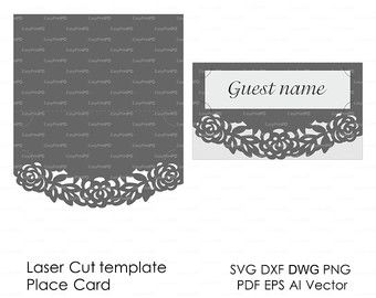 Scroll Lace Wedding Envelope Pattern Template Swirl Cutting File