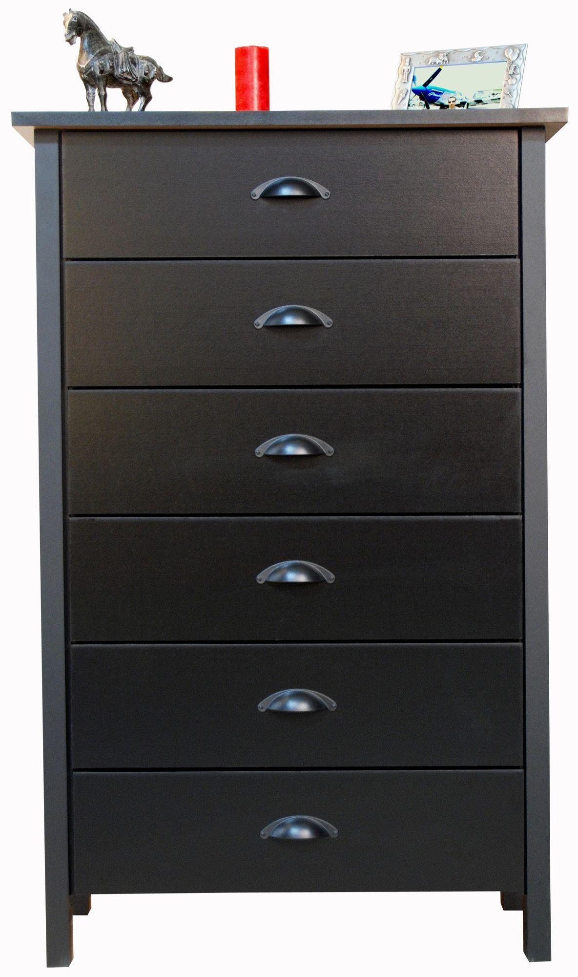 Venture Horizon Compressed Wood 6 Drawer Chest Dresser Drawers 6 Drawer Dresser Traditional Bedroom Furniture [ 2000 x 1184 Pixel ]