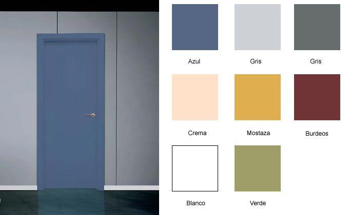 Puertas de melamina o huecas economicas modernas block for Puertas interior economicas