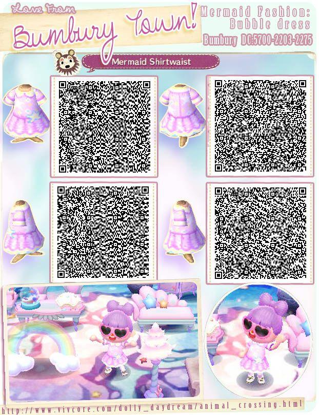 Mermaid Fashion Animal Crossing Animal Crossing Qr Qr Codes