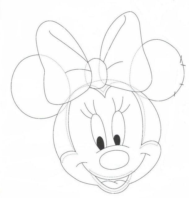 Moldes de la cara de Minnie Mouse. | cajas decorativas baby ...