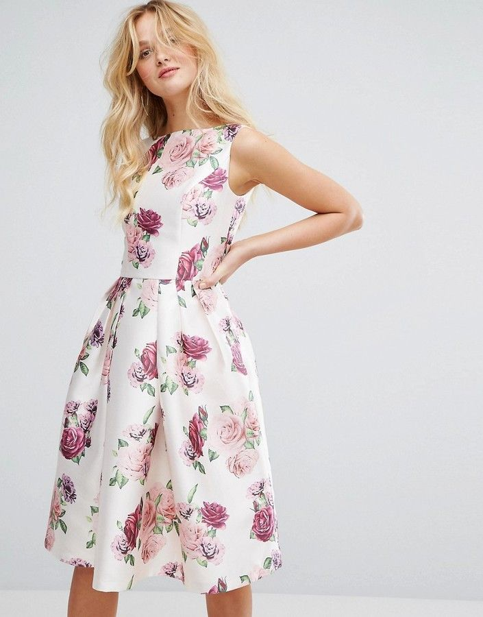 360e1db7af5 Chi Chi London Satin Midi Dress in Floral