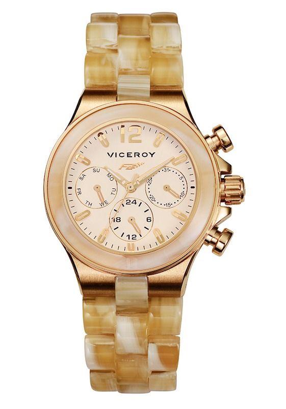 cb6be937e1d6  reloj  Viceroy para mujer dorado y carey blanco