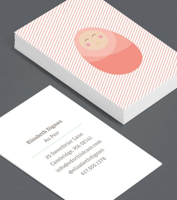 Professional nanny business cards image collections card design professional nanny business cards reheart Choice Image