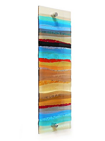 FUSED GLASS WALL ARTWORK PANEL  sc 1 st  Pinterest & FUSED GLASS WALL ARTWORK PANEL | rise to greet you | Pinterest | Glass