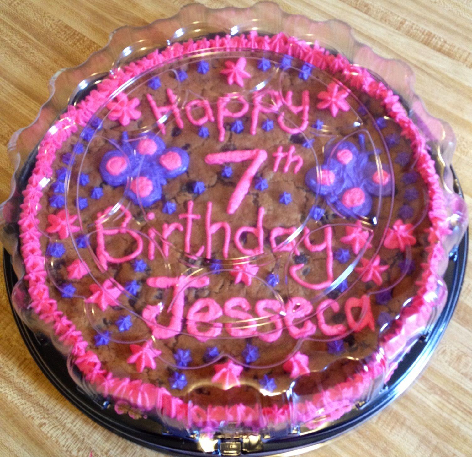 Giant Oatmeal Raisin Birthday Cookie