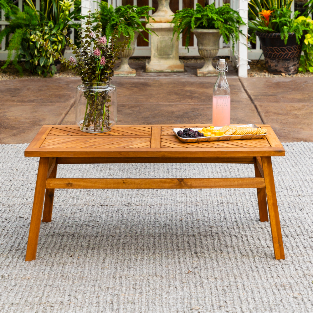 Manor Park Wood Outdoor Coffee Table With Chevron Design Brown Walmart Com In 2021 Coffee Table Wood Wood Coffee Table Design Chevron Coffee Tables [ 1000 x 1000 Pixel ]