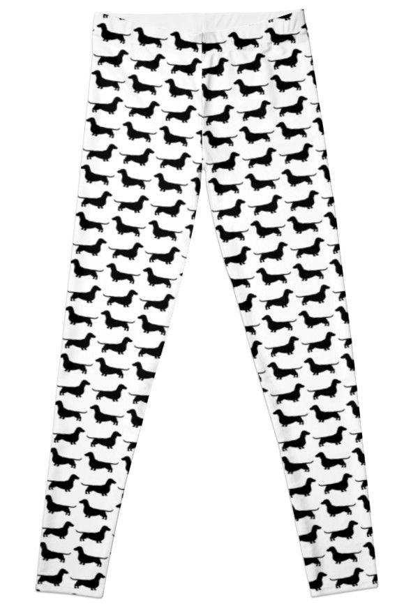 Dachshund Silhouettes Pattern Leggings