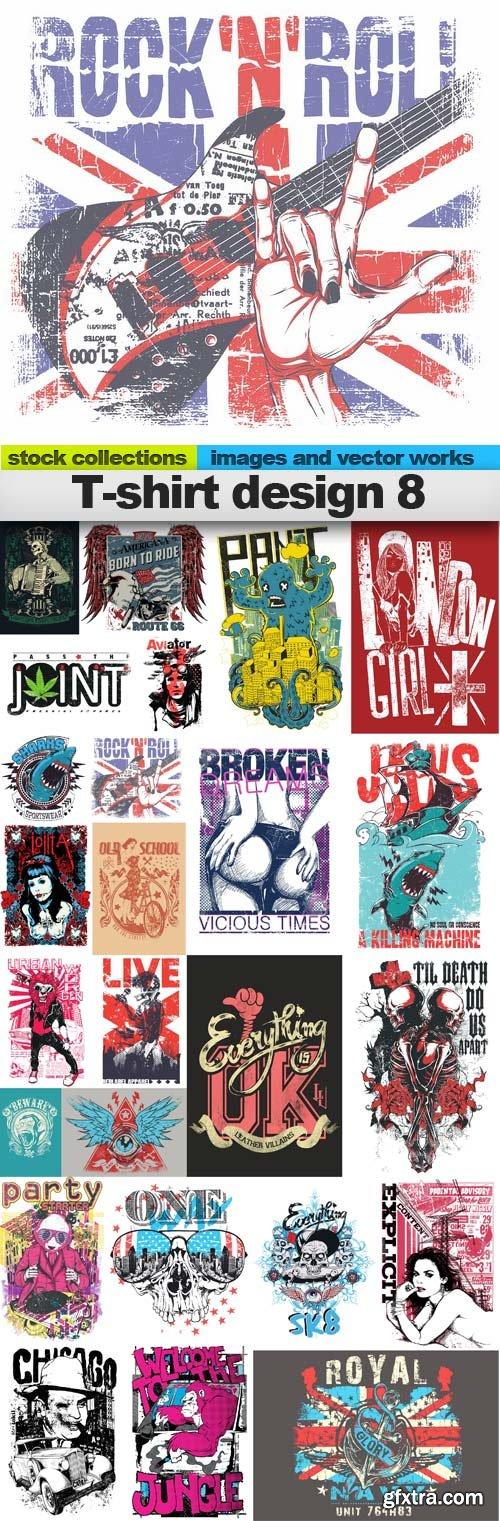 T-shirt design 8,25 x EPS