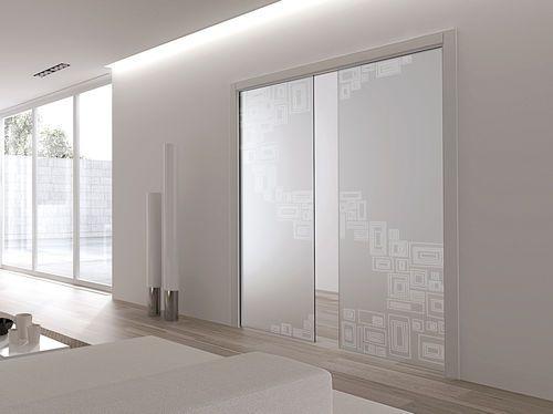 Badezimmer Schiebetür ~ Schiebetür vorderseite aus glas doppel flores eclisse