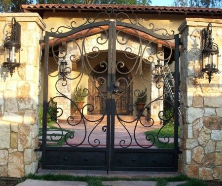 Rustic Wrought Iron Gates Wrought Iron Gates Iron Gates Gate