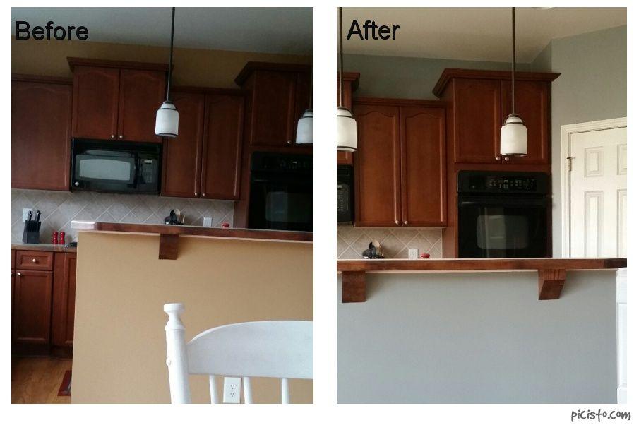 After photo benjamin moore ben puritan gray beige hc 164 - Eggshell paint on walls ...