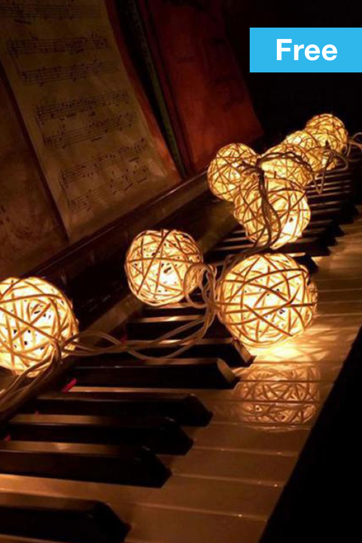 10 Led Color Rattan Ball String Fairy Lights For Xmas Wedding Party How To Build Multicolor Hd Light Up Your Home With Some Soft Glowing