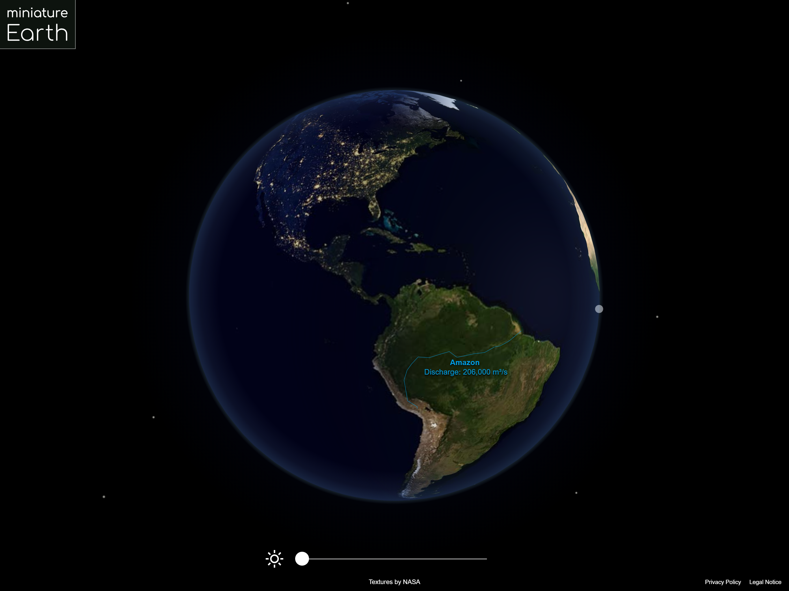 Miniature Earth | Interactive 3D Globe for JavaScript