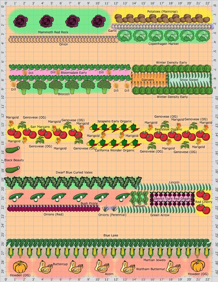 Garden Plan For Vegetables That Grow In Partial Shade Garden
