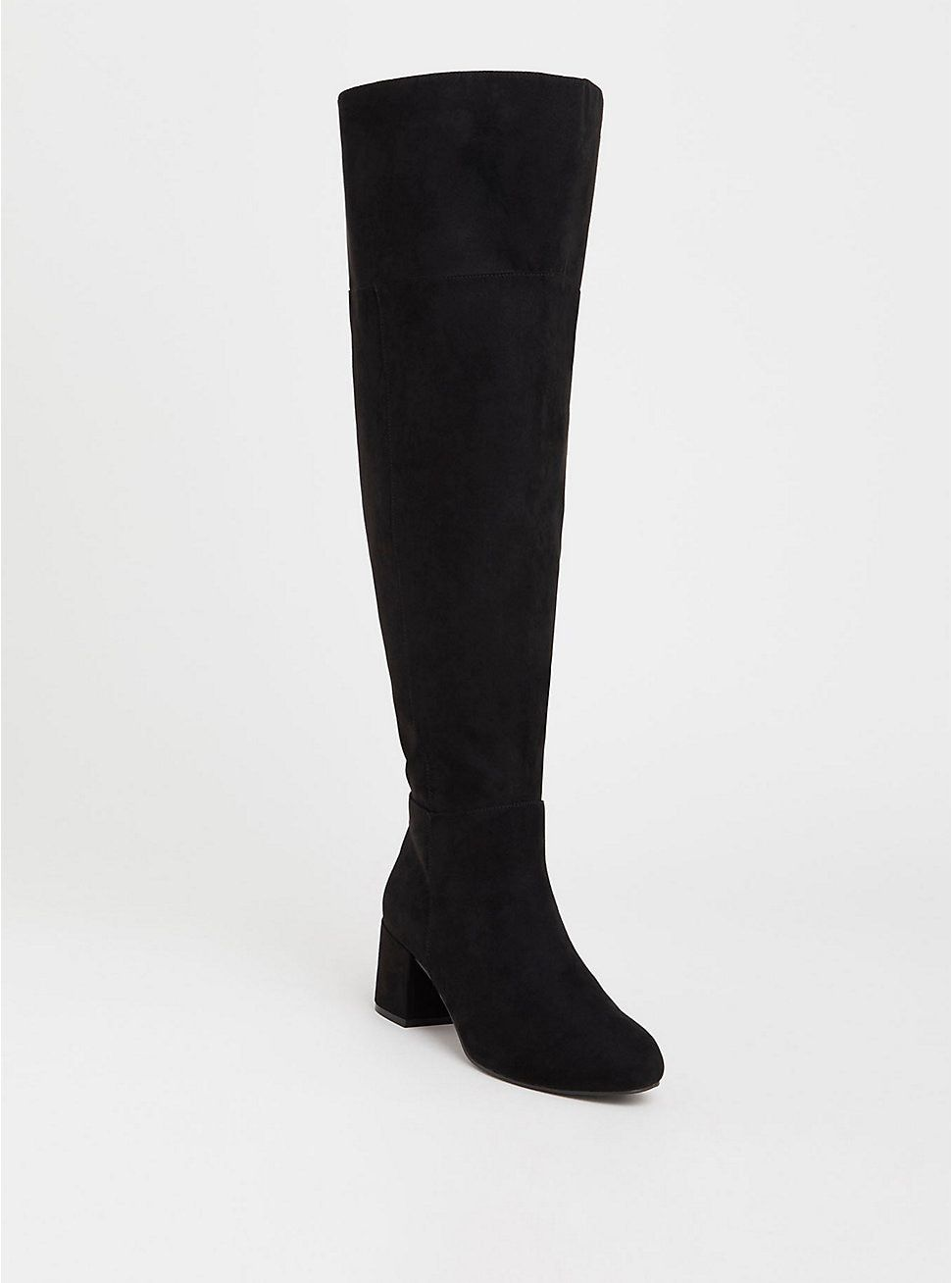 730291521d3 Black Faux Suede Over The Knee Boot (Wide Width   Wide to Extra Wide ...