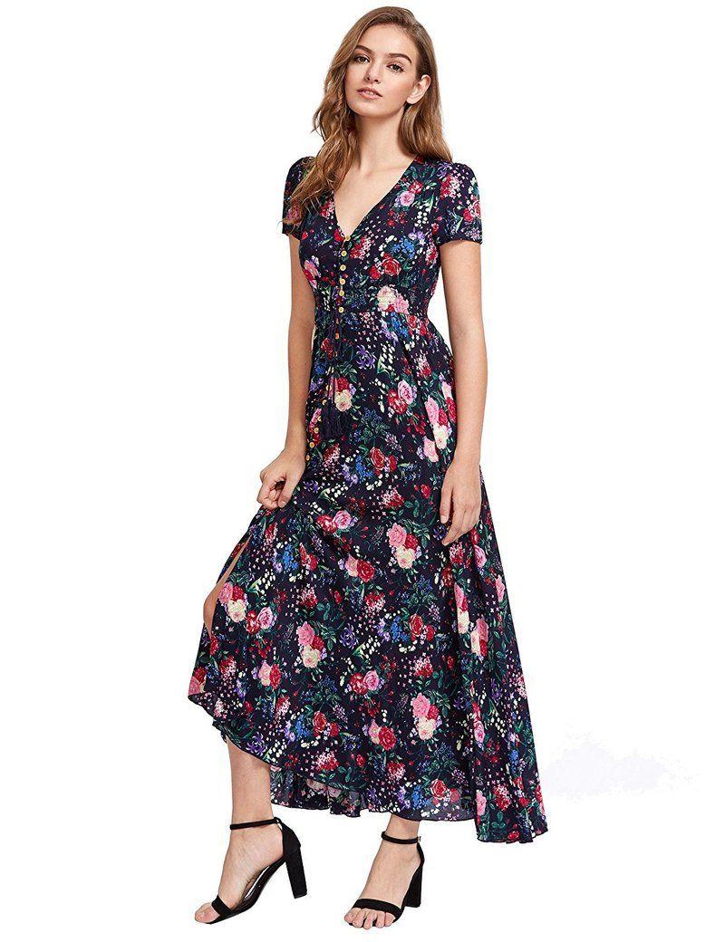 Athena flower dress floral dress casual maxi dress