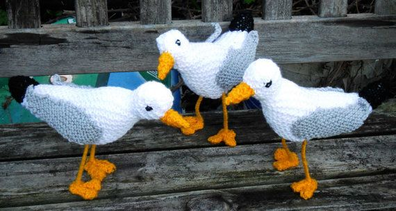 Cyril The Seagull Not A Toy Knitting Pattern By Imakevintage