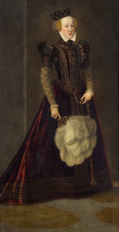 1565 Joanna of Austria (note the Habsburg chin) - by Francesco Terzio aka Francis Tertius