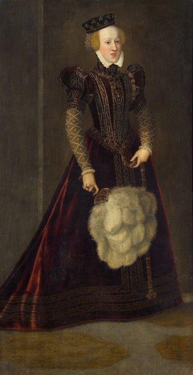 1565 Joanna of Austria (note the Habsburg chin) - by Francesco Terzio aka Francis Tertius
