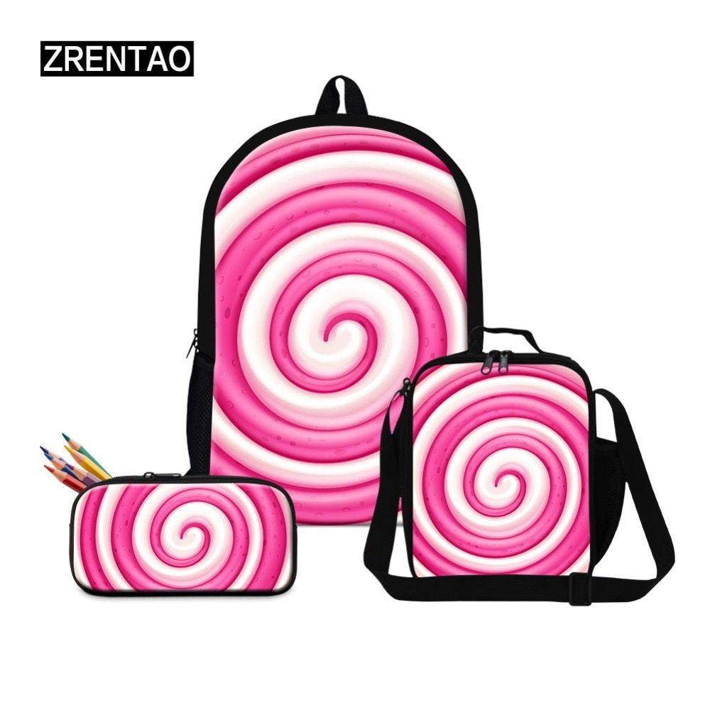 #zrentao #pupil #polyester #bagpack #set #girl #double #shoulder #bags #zipper #bookbags #mochilas #travel #rucksack #with #side #pockets #backpacks