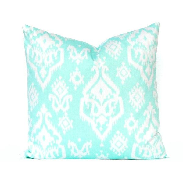 decor decorative cover pillows pillow green pin cushion ikat mint