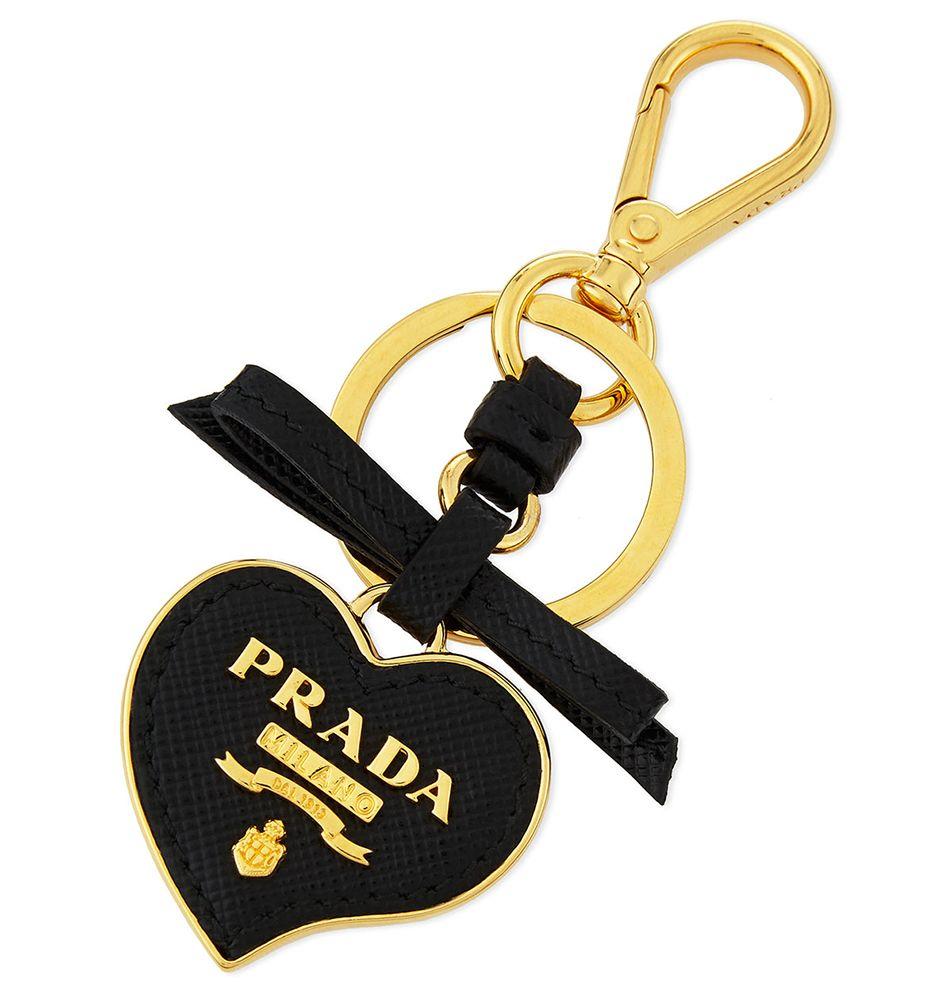 06d8982d3207 Prada Saffiano Heart CHarm   Love   Leather keychain, Prada handbags ...