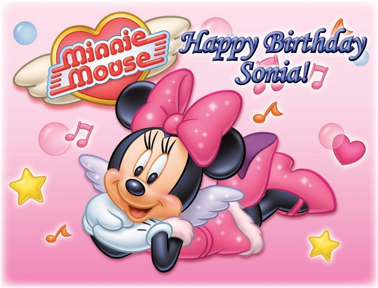 Minnie Mouse Cake Edible Icing Image 1 Minnie Cakes