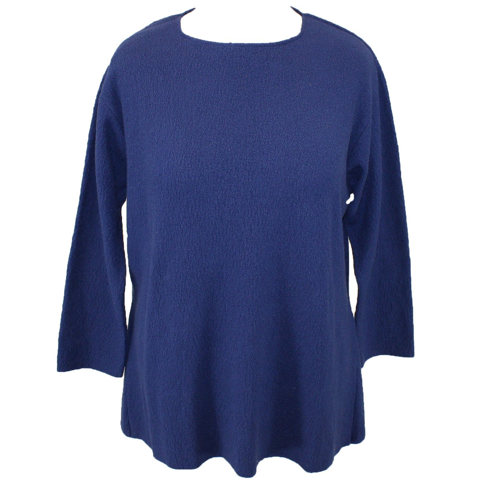 Blouse 2X 3X USA Made NEW Margaret Winters Thick Blue Cotton Cardigan Sweater