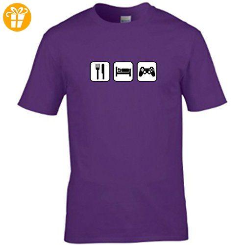 S Tees Herren T-Shirt Violett Violett XX-Large (*Partner-Link