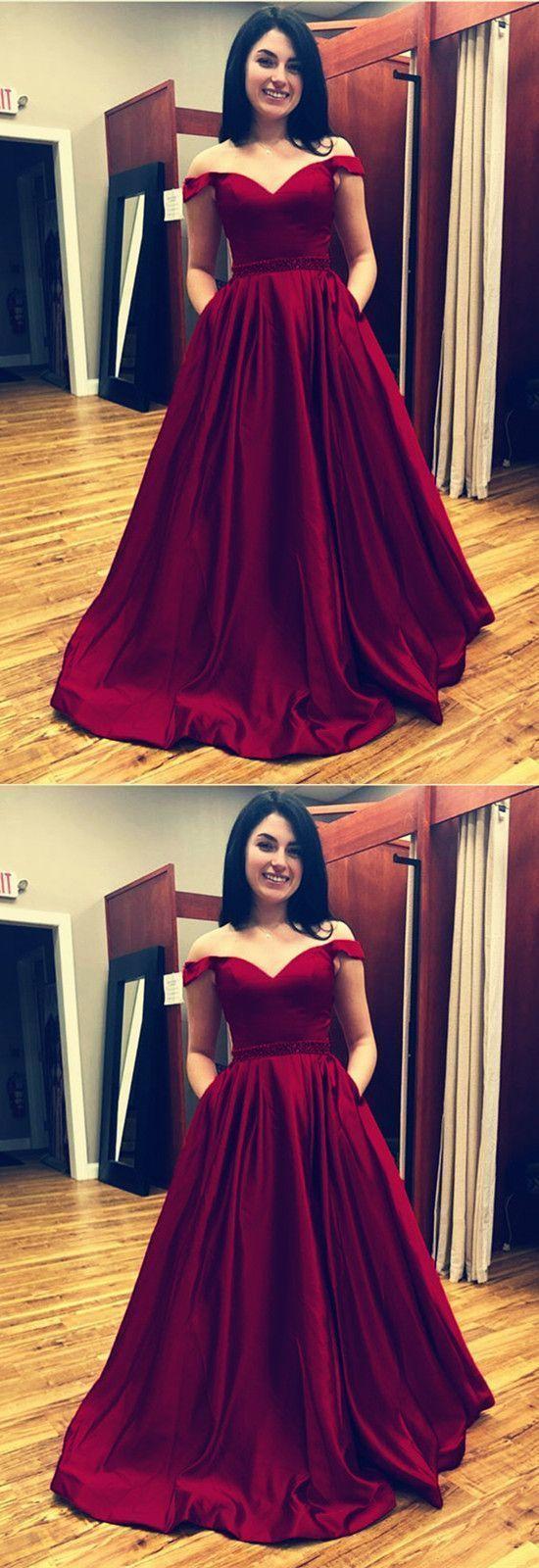 Off the shoulder prom dresses ball gowns vneck evening dresses