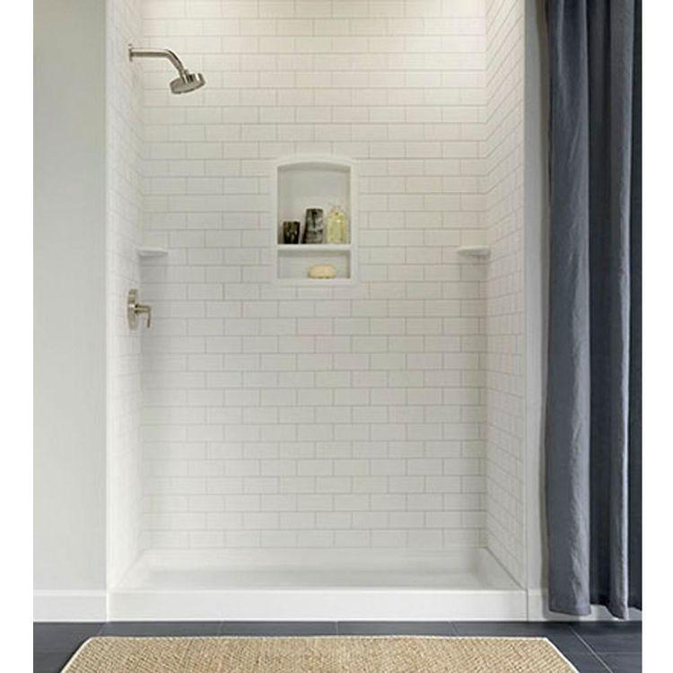 Swanstone Ssst 3696 1 011 Subway Tile Wall Panel 36 X96 Tahiti White Shower Wall Tile Subway Tile Showers Small Bathroom