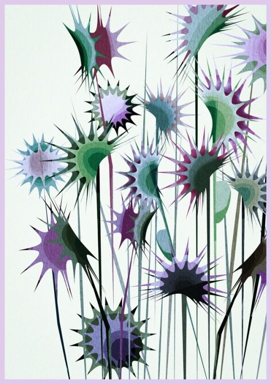 Life As Illustrated Fine Art Painting Oil Watercolor Flowers Illustration