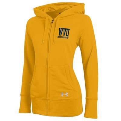 Under Armour Women's Varsity Signature Full Zip French Terry Hoodie