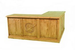 L Shaped Desk Rustic Furniture | Crosby Baytown Houston Alvin