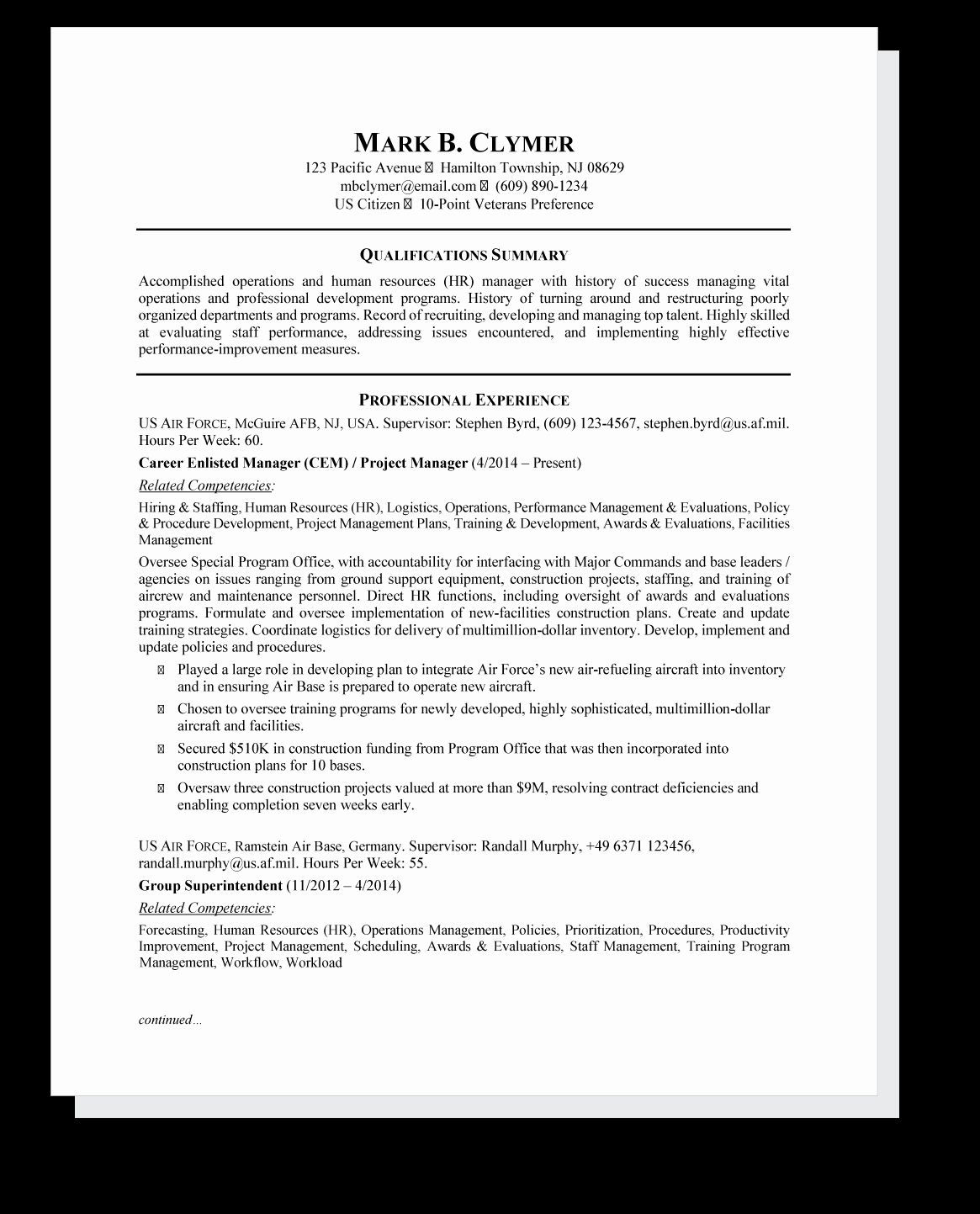 28+ Federal government job resume examples Resume Examples
