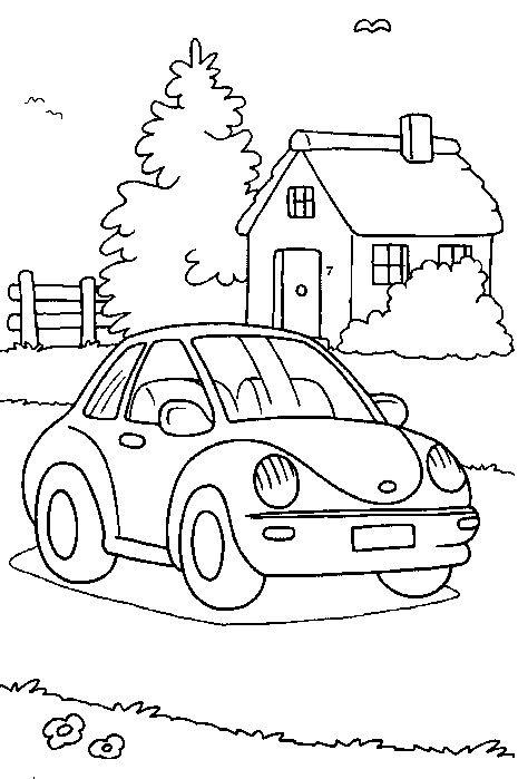 Kleurplaat Auto Volkswagen Kever Op Kids N Fun Nl Op Kids N Fun