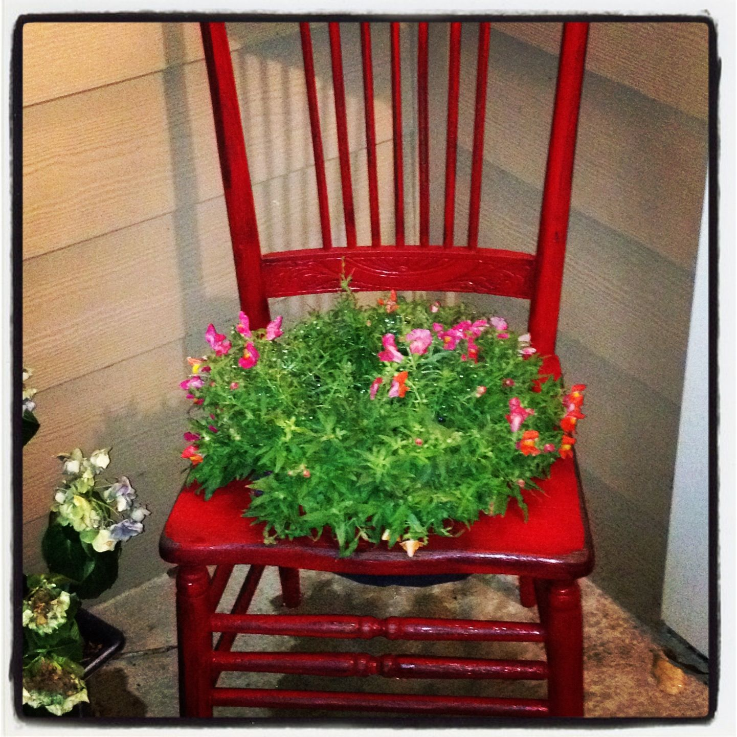 Planter Chair--what I Will Be Making Next Week..red Paint