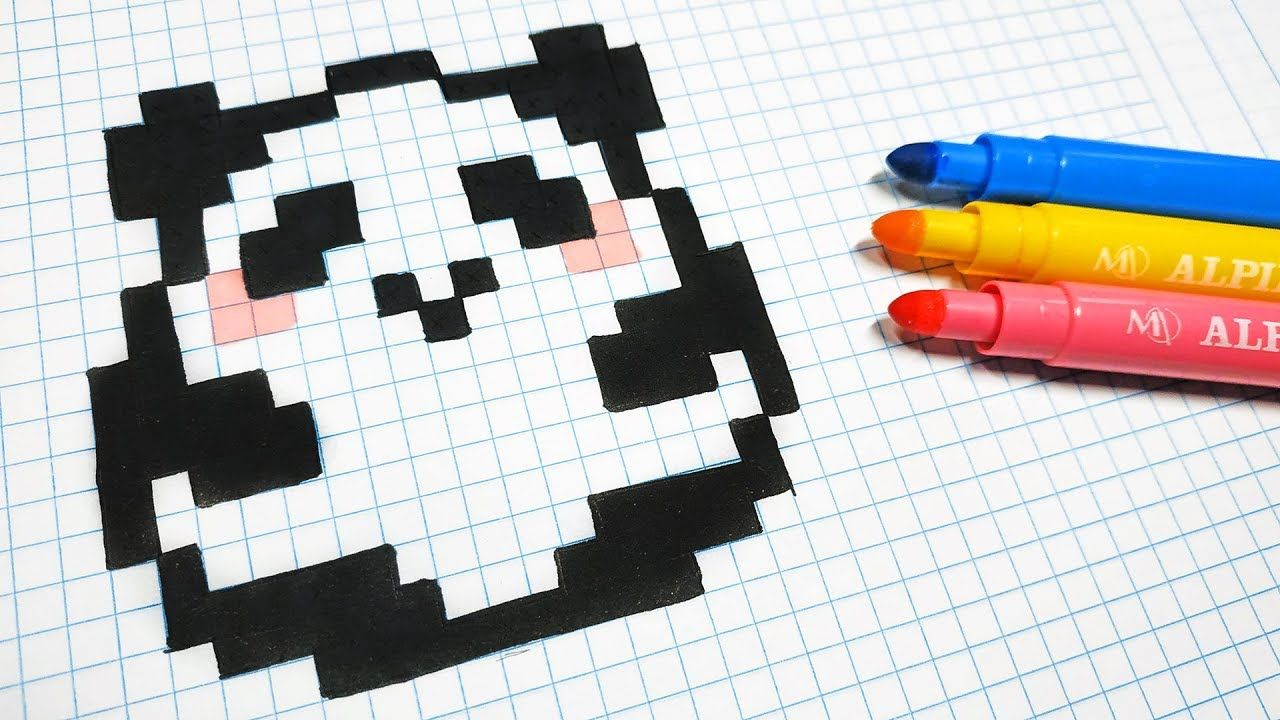 Handmade Pixel Art How To Draw A Kawaii Panda Pixelart
