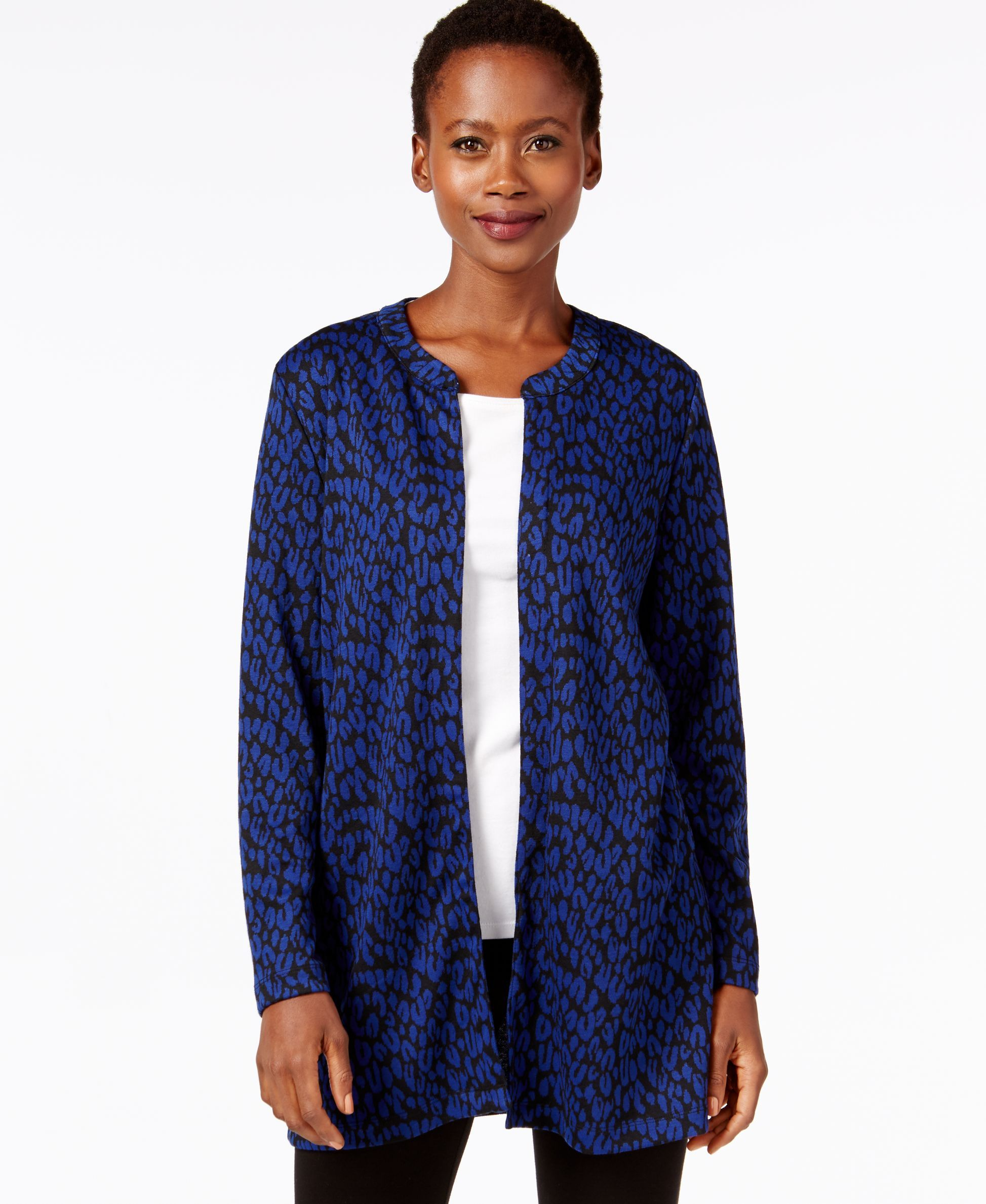 Ny Collection Petite Leopard-Print Open Cardigan | Products ...