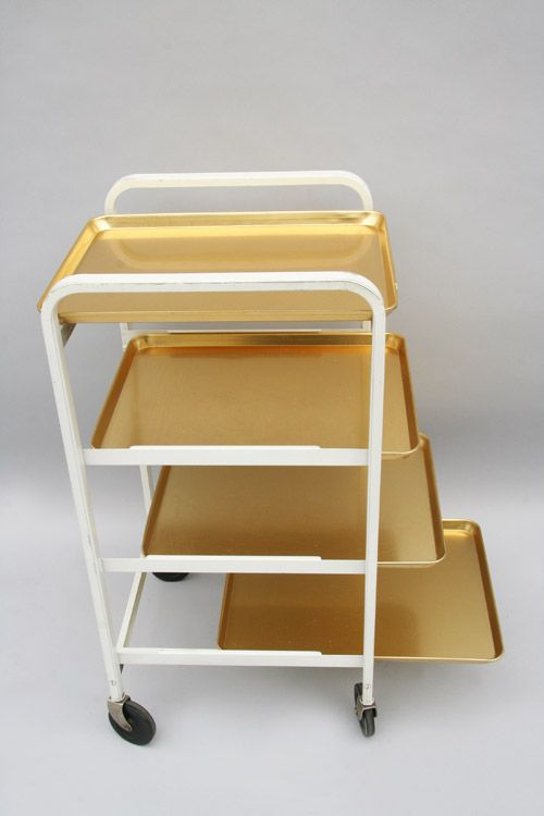 Wilhelm Kienzle Enameled And Anodized Aluminum Tray Trolley For Mewa C1935 Avec Images Dossier
