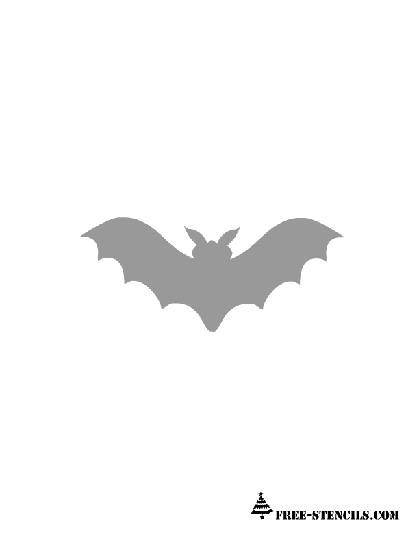 picture about Bat Stencil Printable known as halloween stencils printable daunting bat stencil this is