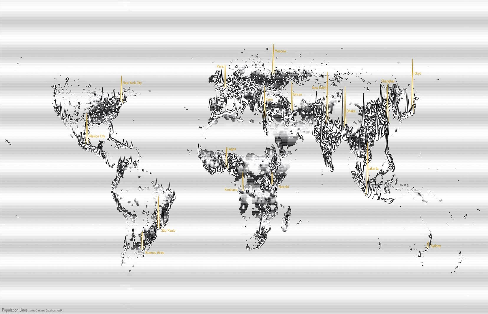 Population Lines by James Cheshire