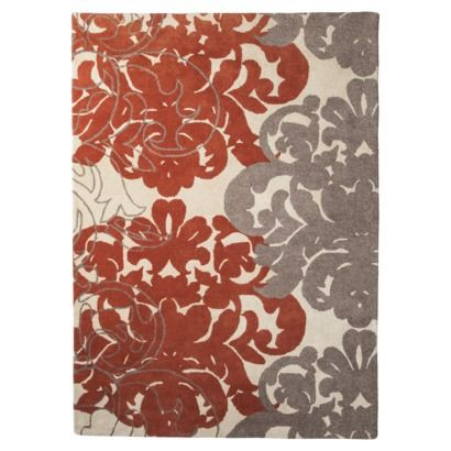 Threshold Exploded Damask Area Rug Coral Gray Rugs